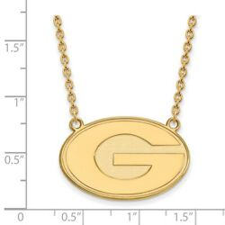 Georgia Bulldogs School Letter Logo Pendant Necklace In 14k And 10k Yellow Gold