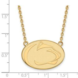 Penn State University Nittany Lions Mascot Pendant Necklace In 14k Yellow Gold