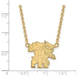 University Of Kentucky Wildcats Mascot Pendant Necklace In 14k And 10k Yellow Gold