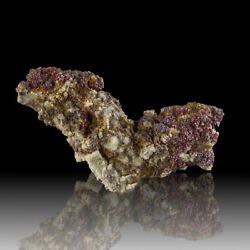 3.4 Ruby Silver Proustite Sparkling Red Crystals On Acanthite Morocco For Sale