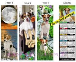 3Lot-JACK RUSSELL Terrier 2019 CALENDAR BOOKMARK Mix Dog CARD Makes Perfect Gift