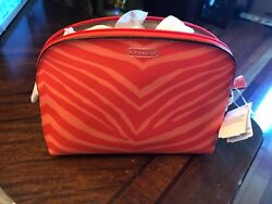 coach cosmetic bag animal print new $49.99