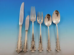 Belle Meade By Lunt Sterling Silver Flatware Set For 8 Service 56 Pieces