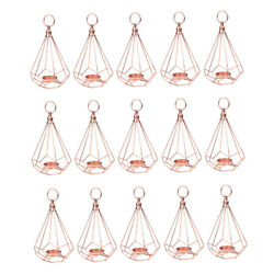 15x Geometry Table Hanging Tea Light Candle Holder Light Xmas Wedding Decor