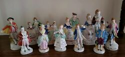 Vintage 11 Piece Hand Painted Victorian Dance Figurines Made In Occupied Japan