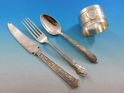 Japanese By Gorham Sterling Silver Childand039s Youth Set Multi Motif 4-pc 0065