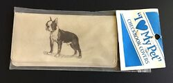 Vintage New in Package ~ BOSTON TERRIER  Checkbook Cover ~