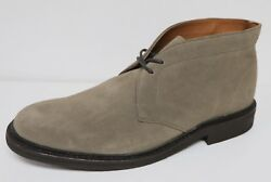 Frye Seth Menand039s 228 Chukka Ankle Boots Grey Suede Leather Lace Up Brand New
