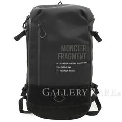 MONCLER Fragment Design Backpack Polyester Nylon Black Mens Authentic 4860716