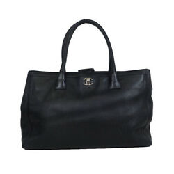 Auth Chanel ネオエグゼクティブ Neo Executive Women's Leather Tote Bag B