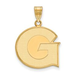 Georgetown University Hoyas School Letter Logo Pendant In 14k And 10k Yellow Gold