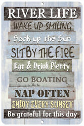 River Life Metal Sign - Home Decor - 8x12 - Advice From The River - River Sign