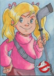 Cryptozoic Ghostbusters 2016 Sketch Card By Tracy Bailey