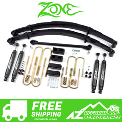 Zone Offroad 4 Suspension System Lift Kit Fits 99-04 Ford F250 F350 Super Duty
