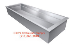 New 2 Pan Drop In Cold Iced Well Stainless Steel Gsw Ip3126 3918 Buffet Drink