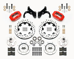 Wilwood Dynalite Front Brake Kit Fits 1965-68 Impala 12.19 Drilled Rotors - Red