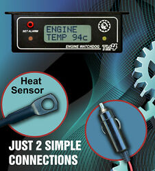 ENGINE ALARM  HI TEMP RECORDER with THERMO COOLING FAN SWITCH - CONTROLLER