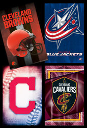 Cleveland Sports 4-poster Combo - Cavaliers, Indians, Browns, Jackets Posters