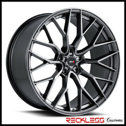 Savini 20 Svf-02 Gloss Graphite Concave Wheel Rims Fits Ford Mustang Gt Gt500
