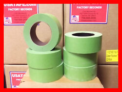 Lot Of 24 Rolls 2x60 Yrds Green Painters Masking Tape Quick Ship Usa Made Blems