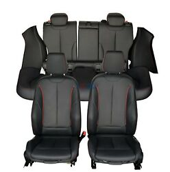 Seats for 2016 2015 BMW 428i 435i 4Dr Black Leather Seats with Red Stitching.