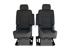 2019 2018 2017 - 2015 Tahoe Yukon 2nd Row Captains Chairs Seats In Black Cloth