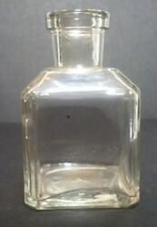 Antique Abm Clear School House Shaped Ink Bottle T C W Co Usa