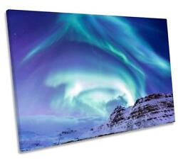 Northern Lights Space Scene Canvas Wall Art Deco Large Ready To Hang All Sizes
