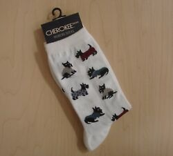 SCOTTY DOG WOMEN'S SOCKS CHEROKEE BRAND SZ 9-11 SOCK NEW WITH TAG
