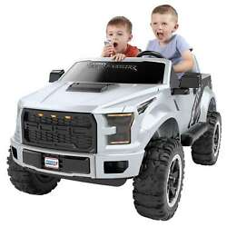 Kids Ride On Ford F-150 Battery Powered Car 12v Electric Silver Ranger Jeep Toy