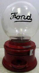 Ford Round Embossed Penny Gumball Machine Circa 1930's Video
