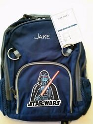 Pottery Barn Kids Backpack Star Wars Darth Vader on Front Jake Small New $10.00