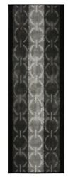 Custom Size Rug Runner Circle And Border Grey Black Indoor Non Skid Runners 26w