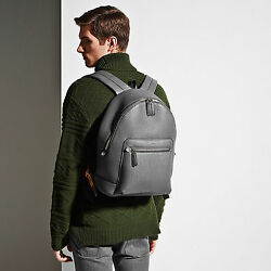 Bally Messi Designer Backpack  Rucksack in Grey MSRP $1395