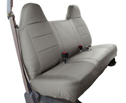 FORD F 250 350 GREY IGGEE S.LEATHER CUSTOM FIT BENCH FRONT SEAT COVER $159.00