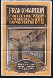 Us Vintage Franklin Paint Co. Circular W/guarantee, Order Form And Envelope Rare