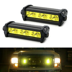 Yellow 3-CREE LED Daytime Running Lights For Behind Grille Lower Bumper Insert