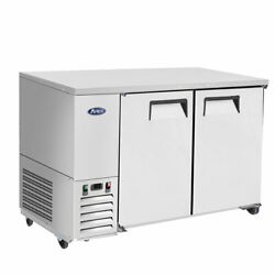 New 59 Back Bar Cooler Stainless Steel Refrigerator Nsf Atosa Mbb59gr 6778