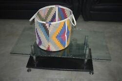 Handmade Multi Color 100% Cotton Kilim Beautiful Bucket Tot Bag