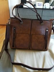 Ivy And Fig Womens Brown medium Capacity Designer Bag
