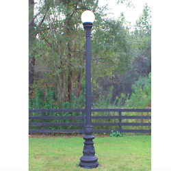 Antique Replica Pole Light Vintage Style Non Rust Aluminum With Shade 122