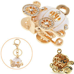 Pumpkin Key Chain Carriage Ring Charm Alloy & Crystal For Friends Birthday Gift