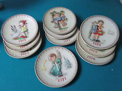 Hummel Goebel Annual Plates Years 1971 To 1980 Pick One No Boxes Original
