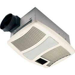 Ceiling Bathroom Exhaust Fan Light Heater Cooling Air Galvanized Steel White New