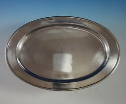 Porter Blanchard Sterling Silver Fish Serving Tray Oval 302 2900