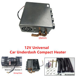 12V 8A Universal Car Underdash Compact Heater Pure Copper Tube+Speed Switch Kit