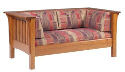 Mission Arts And Crafts Stickley Style Prairie Spindle Loveseat Made To Order