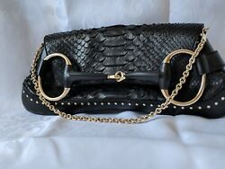 Auth Gucci Bag by Tom Ford Horsebit Bag Clutch