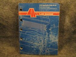 Four Seasons 1992 Application Guide AC-39 Climate Control Products Catalog