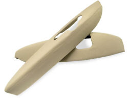 Fits 05-12 Acura Rl Beige Leather Synthetic Door Panel Armrest Covers